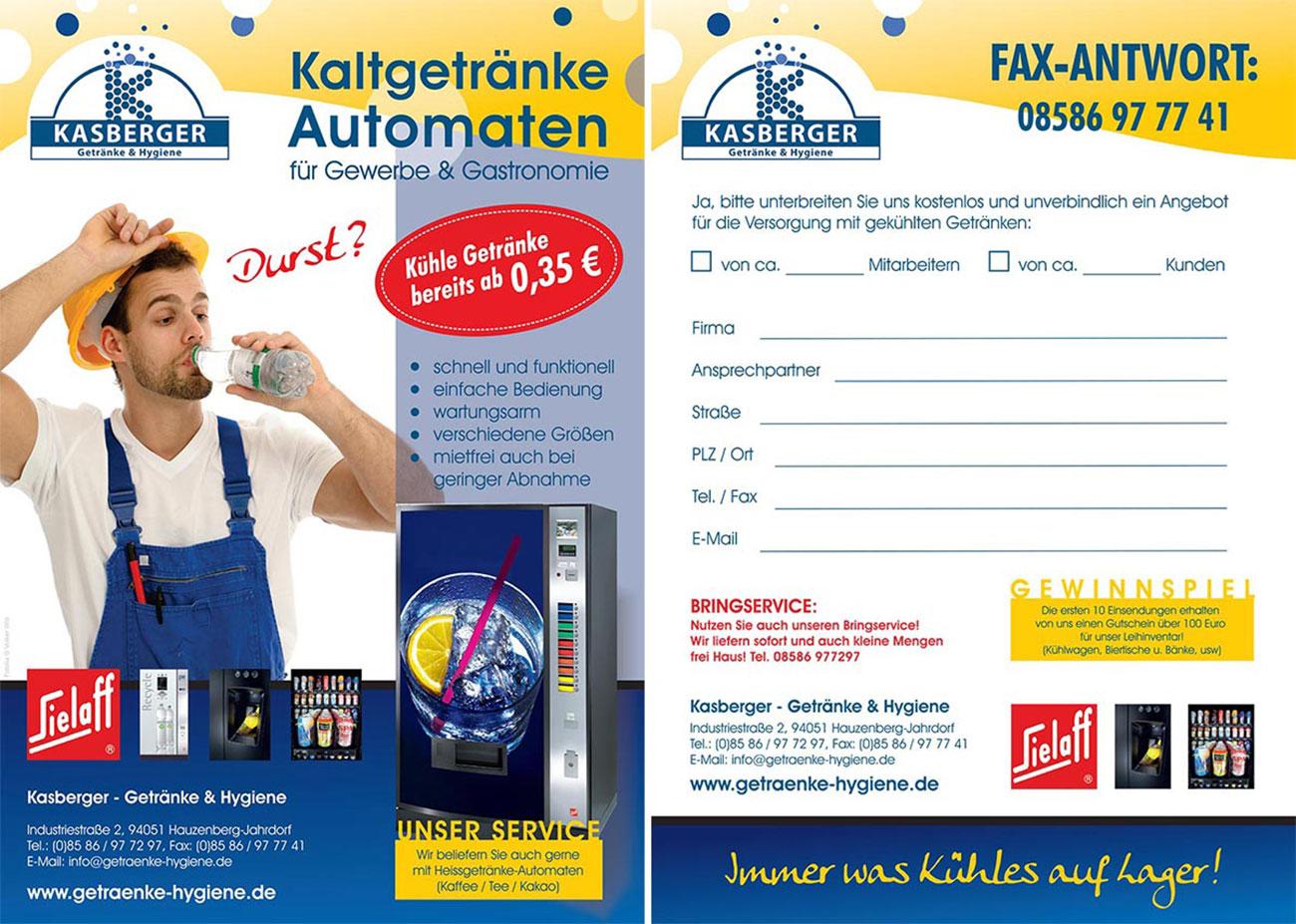Kaltgetränke Automaten für Gewerbe & Gastronomie
