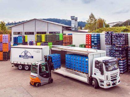 Getränketransport bei Getränke & Hygiene Kasberger
